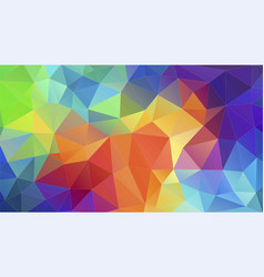 Flat triangle multicolor geometric triangle vector