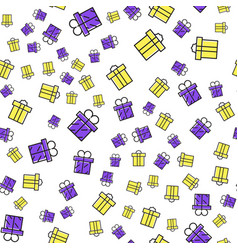 Gift boxes seamless pattern pattern gift box for vector