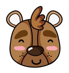 Glad bear head wild animal vector