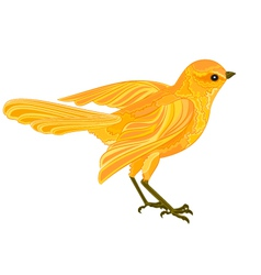 Gold-bird vector