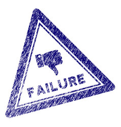 Grunge textured failure triangle stamp seal vector