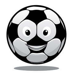 Happy cartoon smiling soccer ball vector image