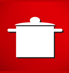hat chef and kitchen vector image