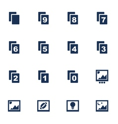 Image icons vector image