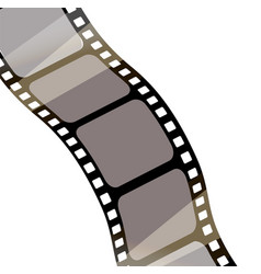 isolated film with white background 3d rendering vector image