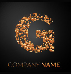 letter g logo gold dots alphabet logotype vector image