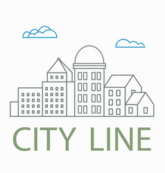 Line linear urban vector