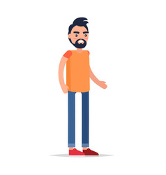male cartoon character isolated vector image