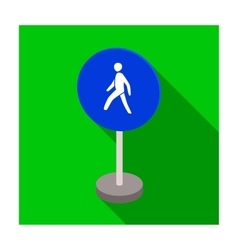 Mandatory road signs icon in flat style isolated vector image