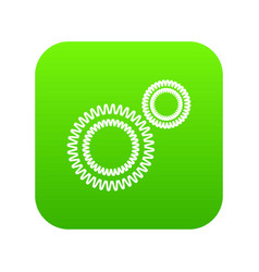 Mildew virus icon green vector