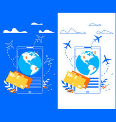 mobile application for traveler flat banner vector image