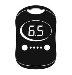 Modern glucose meter icon simple style vector