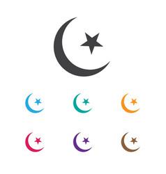 Of religion symbol on islam vector