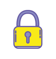 Padlock security protection object to privacy vector