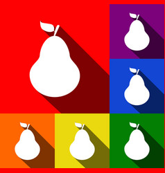 pear sign set of icons with vector image