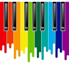Rainbow piano keyboard vector