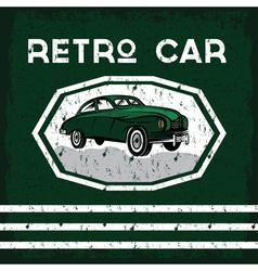 Retro car old vintage grunge poster vector