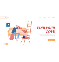 romantic relations love spare time website vector image