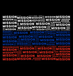 Russian flag pattern of mission text items vector