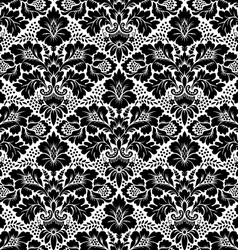 Seamless floral damask pattern vector
