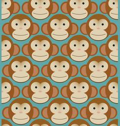 seamless pattern background tile - monkeys new vector image