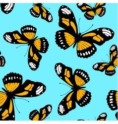 Seamless pattern made from butterflies vector