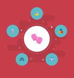 Set of baby icons flat style symbols with joypad vector