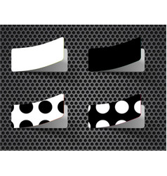 Set peeling stickers in different shape vector