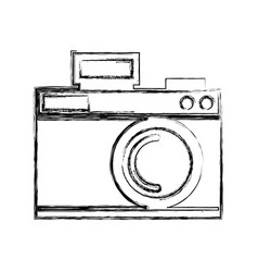 Sketch draw icon camera cartoon vector