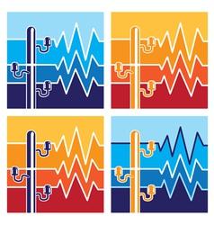 symbols high voltage vector image