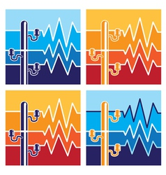 symbols of high voltage vector image