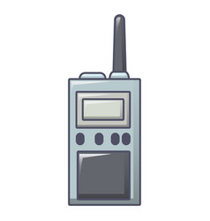 talkie radio icon cartoon style vector image