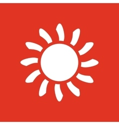 The sunrise icon Sunrise and sunshine weather vector image