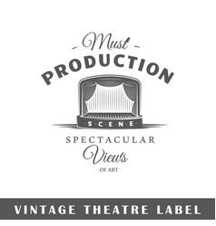 theatre label vector image
