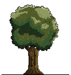 Tree pixel art vector