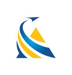 Triangle business finance arrow logo vector