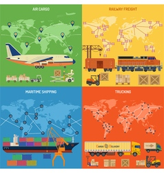 Trucking Industry Banners vector image