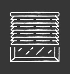 Venetian blinds chalk icon house and office vector