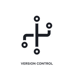 Version control isolated icon simple element from vector
