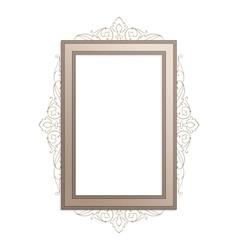 Vertical vintage frame vector image
