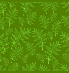 vintage fern leaf seamless wild forest pattern vector image