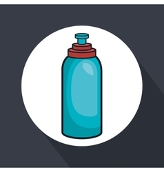Water bottle gym isolated icon vector
