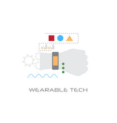 wearable tech smart wristband tracker electronic vector image