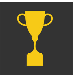 winner cup flat icon golden symbol win vector image