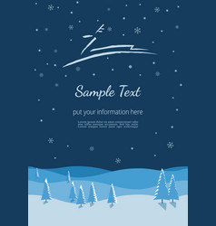 Winter holidays poster vector