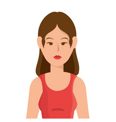 Woman practicing yoga icon vector