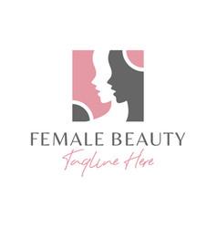 Women beauty salon inspiration logo vector