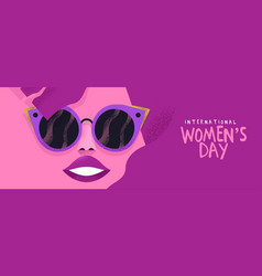 Womens day banner pink fashion woman vector