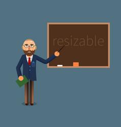 a teacher and chalkboard vector image
