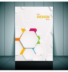Abstract flyer template vector image